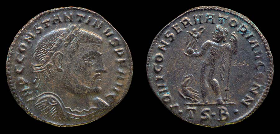 Ancient Roman Bronze Coin - Constantine the Great c. 307